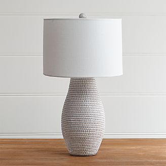 Table lamps for bedside and desk crate and barrel cane white table lamp aloadofball Gallery