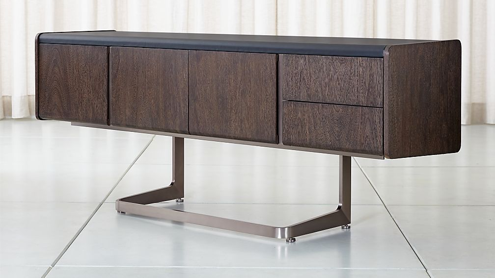 Cantilever Wood and Metal Credenza - Image 1 of 10