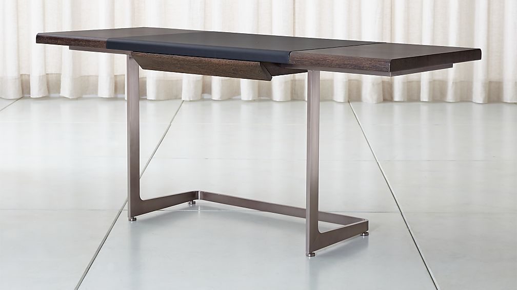 Cantilever Wood and Metal Desk - Image 1 of 10