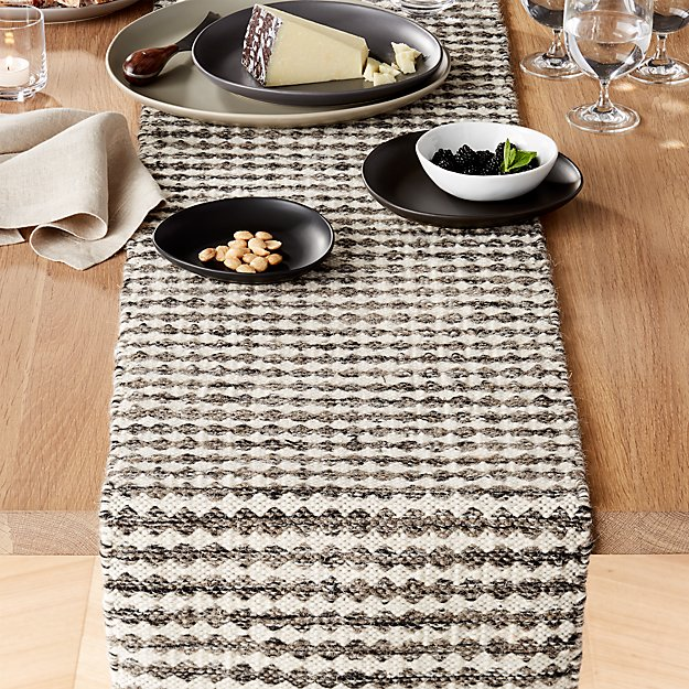 "Canton Wool 90"" Table Runner"