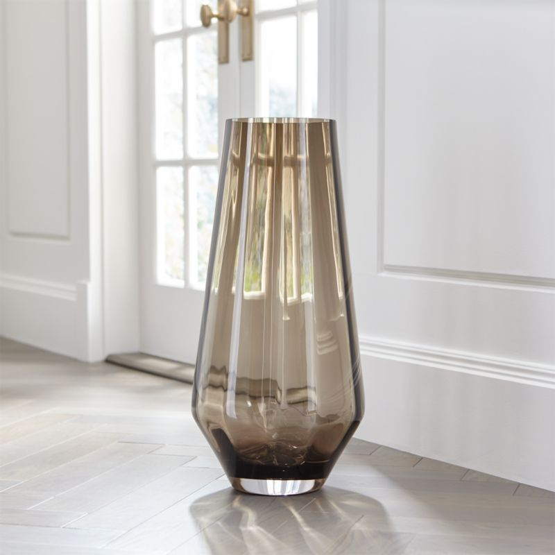 Decorative Vases Glass And Ceramic Crate And Barrel - Clear glass floor vases