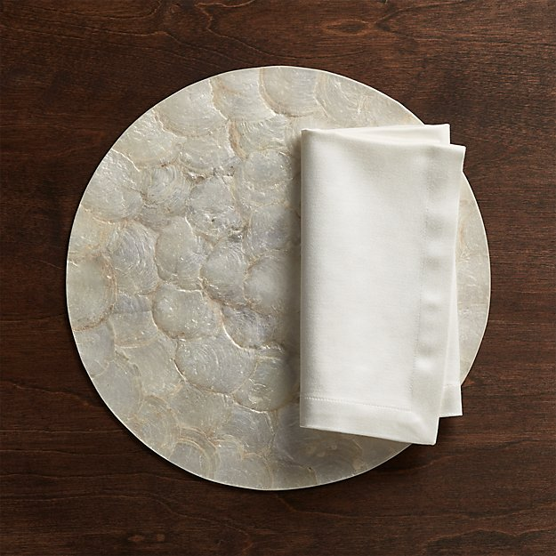 Capiz Reversible Placemat In Placemats Reviews Crate