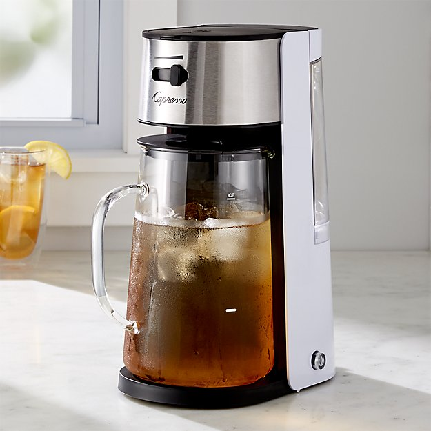 capresso electric iced tea maker crate and barrel. Black Bedroom Furniture Sets. Home Design Ideas