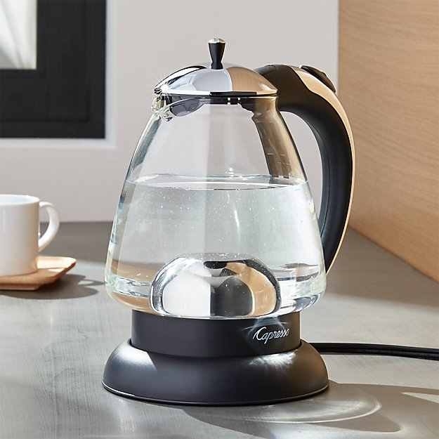 capresso h2o plus electric tea kettle crate and barrel. Black Bedroom Furniture Sets. Home Design Ideas