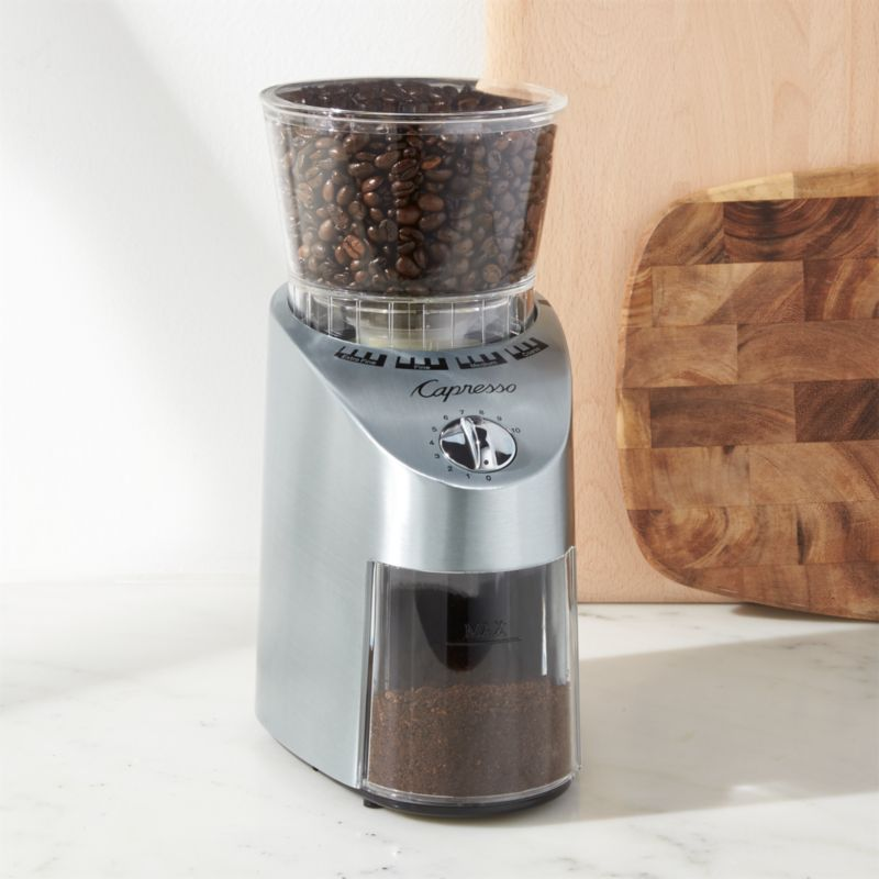 grinder infinity capresso burr silver in best hopper grinders bean dopimize coffee electric plastic the