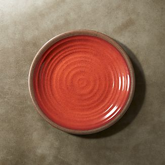"Caprice Chili Red Melamine 8.5"" Salad Plate"