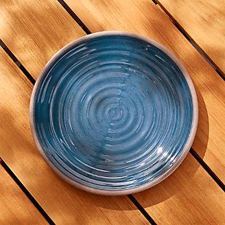Caprice Dark Blue Melamine Dinner Plate & Sale: Melamine Dinnerware for Outdoor Dining   Crate and Barrel