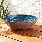 Caprice Dark Blue Melamine Serving Bowl