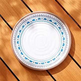 Caprice Blue Medallion Melamine Dinner Plate : unique dinner plate sets - pezcame.com
