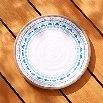 Caprice Blue Medallion Melamine Dinner Plate  sc 1 st  Crate and Barrel & Dinner Plates: Square Oval Rectangular u0026 Round | Crate and Barrel
