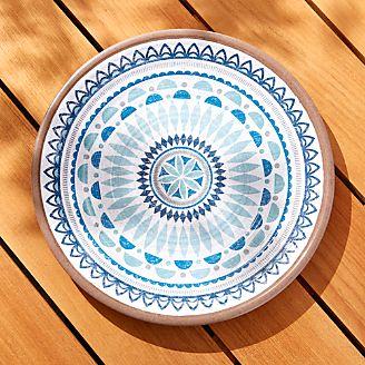 Caprice Medallion Melamine Platter  sc 1 st  Crate and Barrel & Melamine Dinnerware for Outdoor Dining | Crate and Barrel