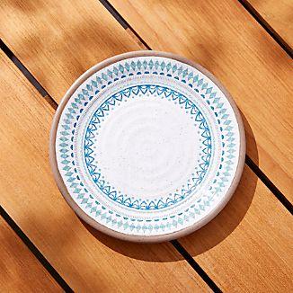 Caprice Medallion Melamine Salad Plate & Melamine Dinnerware Sets | Crate and Barrel