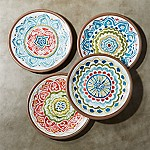 Caprice 8.5  Melamine Salad Plates, Set of 4
