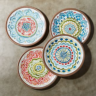 "Caprice 8.5"" Melamine Salad Plates, Set of 4"