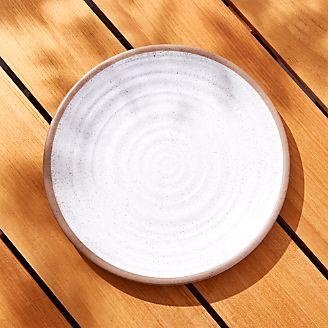 Caprice White Melamine Dinner Plate & Dinner Plates: Square Oval Rectangular u0026 Round | Crate and Barrel