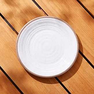 Caprice White Melamine Salad Plate & Colorful Melamine Plates | Crate and Barrel