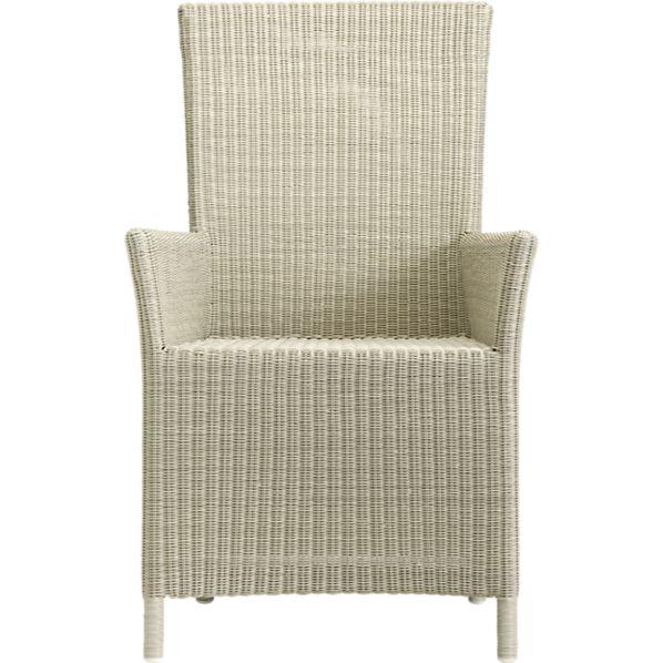 Captiva Seaside White Arm Chair