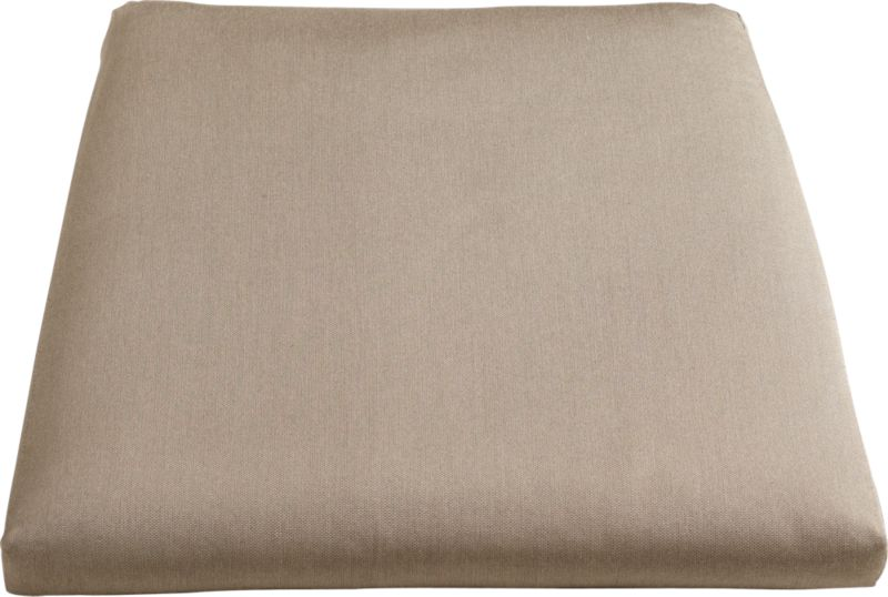 Add the smart Sunbrella® acrylic pillow with clean, no-welt styling in a lighter neutral. Plush cushion has a removable cover.<br /><br /><NEWTAG/><ul><li>100% Sunbrella acrylic</li><li>Foam core poly wrap fill with non-woven insert cover</li><li>Zipper closure</li><li>Fade- and mildew-resistant</li><li>Spot clean</li><li>Made in USA</li></ul>
