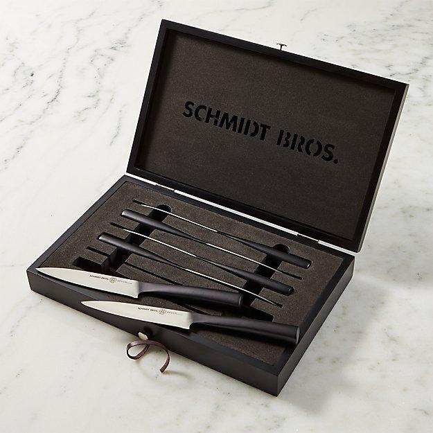 Schmidt Brothers ® Carbon 6 Steak Knives Set of Six