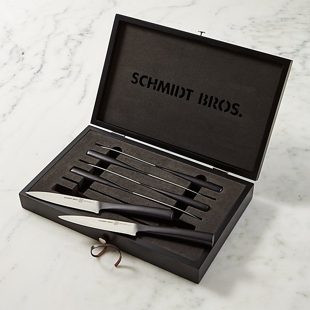 Schmidt Brothers Carbon 6 Steak Knives Set Of Six Reviews Crate