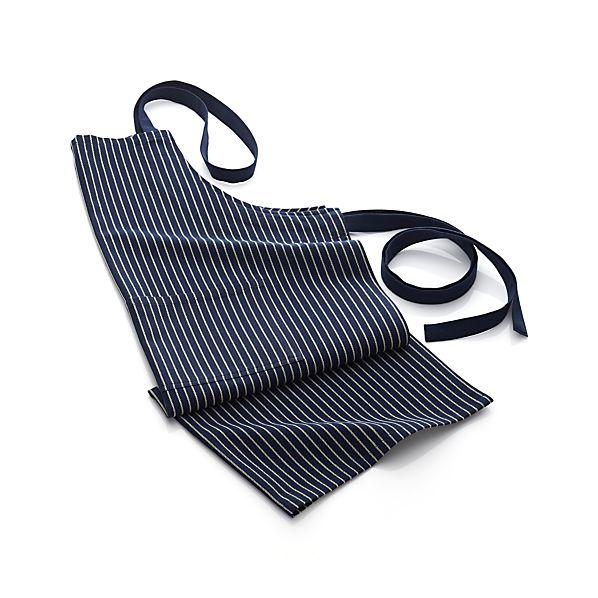 Carbon Blue Stripe Apron