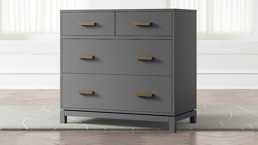Kids Parke Charcoal 4-Drawer Chest - Image 1 of 4