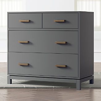 Kids Parke Charcoal 4-Drawer Chest