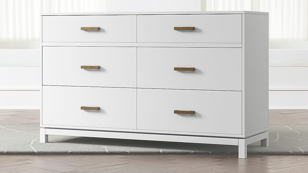 Kids Parke White 6-Drawer Dresser - Image 1 of 7