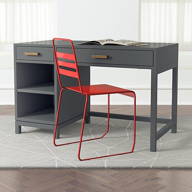 Kids Parke Charcoal Desk - Image 1 of 10