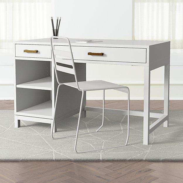 Kids Parke White Desk - Image 1 of 9