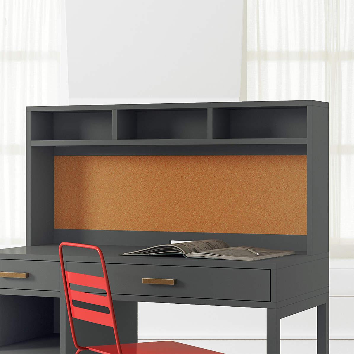 Kids Parke Charcoal Desk Hutch Reviews Crate And Barrel