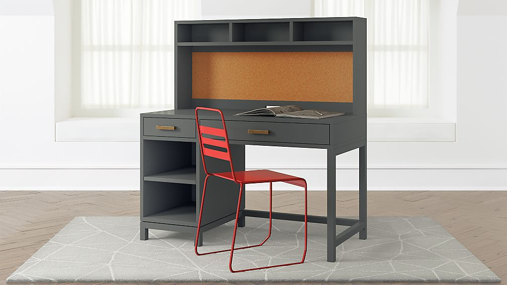 Kids Parke Charcoal Desk And Hutch Crate And Barrel