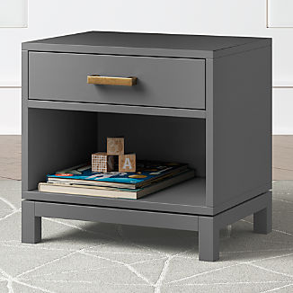 Kids Parke Charcoal Nightstand