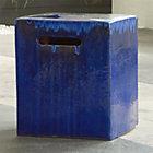 Carilo Blue Garden Stool Crate and Barrel