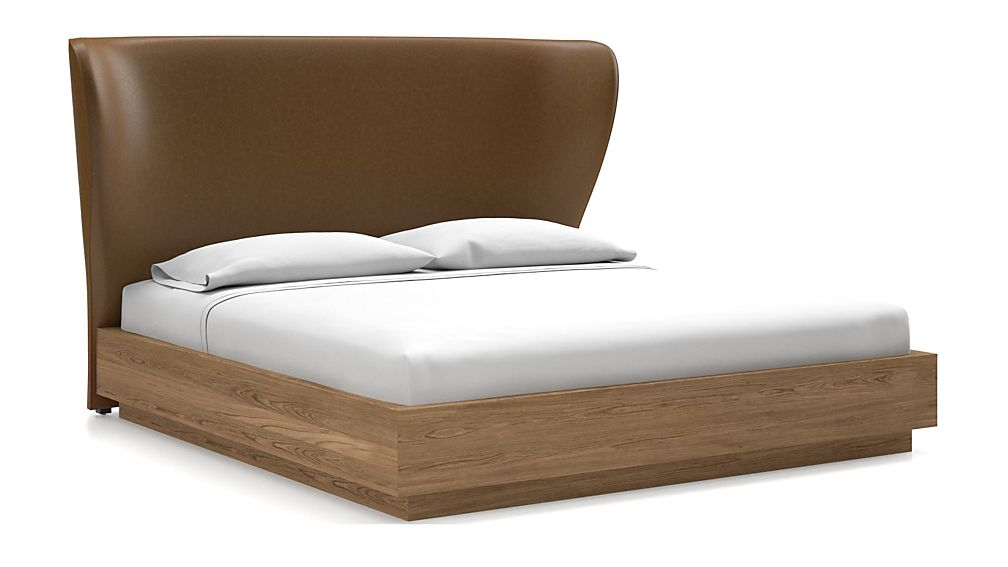 Carlie King Headboard with Batten Plinth-Base Bed Saddle Faux Leather - Image 1 of 1