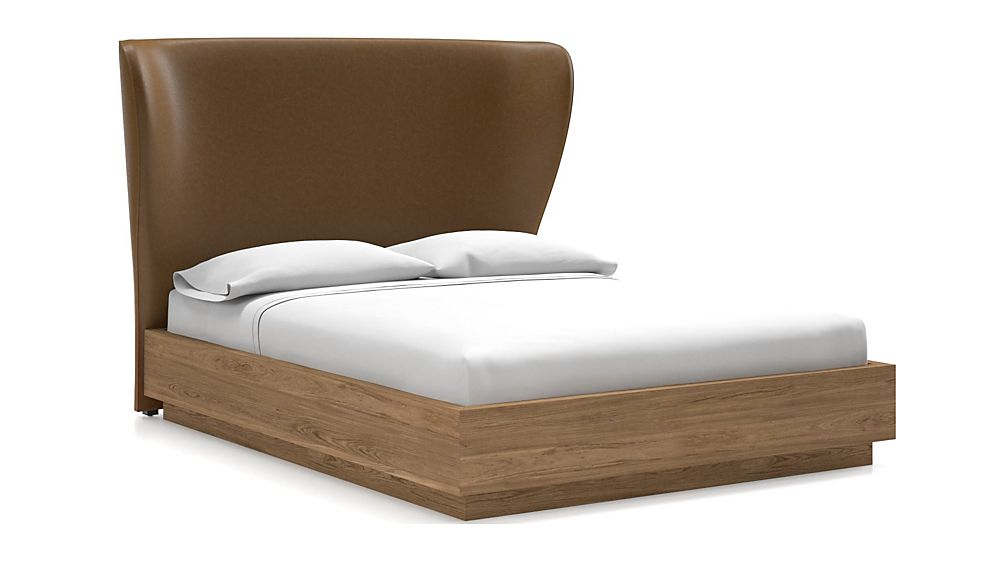 Carlie Queen Headboard with Batten Plinth-Base Bed Saddle Faux Leather - Image 1 of 1