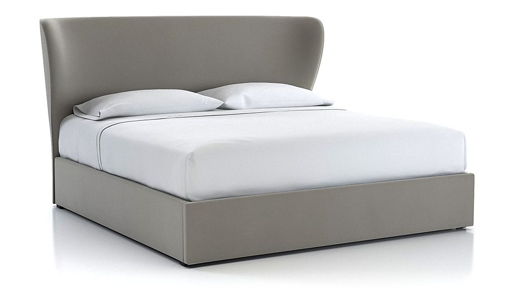 Carlie King Upholstered Headboard with Gas-Lift Storage Base Dove - Image 1 of 5