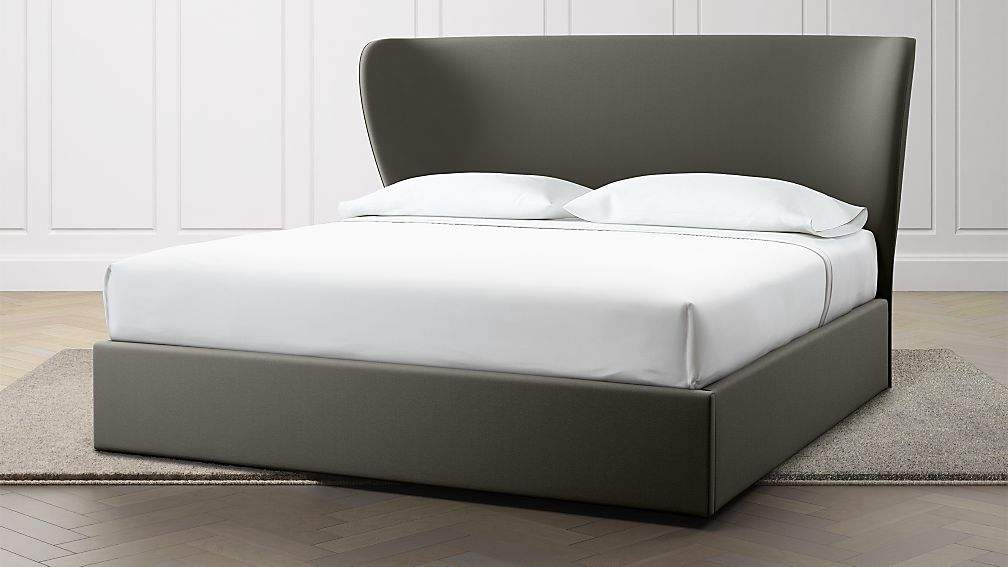 Carlie King Upholstered Headboard with Gas-Lift Storage Base Carbon - Image 1 of 6