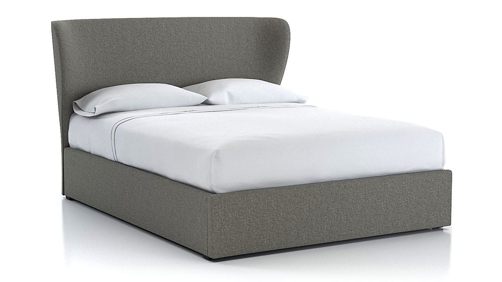 Carlie Queen Upholstered Headboard with Gas-Lift Storage Base - Image 1 of 5