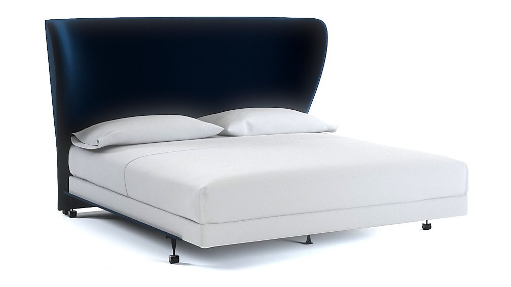 Carlie Wingback King Headboard Midnight - Image 1 of 1