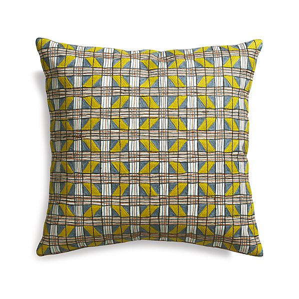 """Carlo 20"""" Pillow with Down-Alternative Insert"""