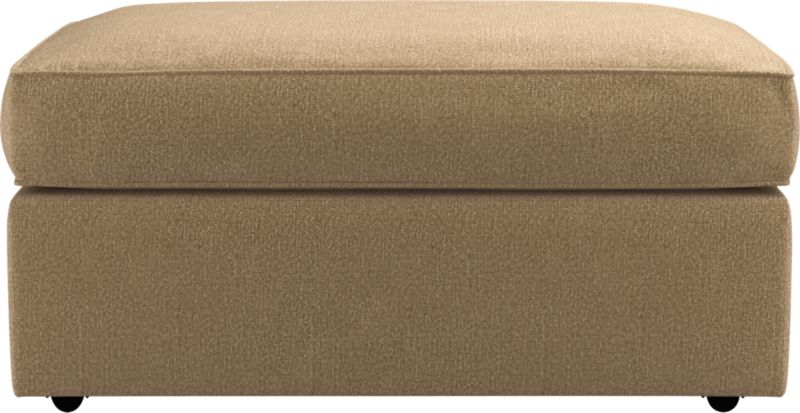 Clean lines give this storage ottoman with casters a modern attitude that fits in any room. Plump cushioning for sink-in comfort. Pair it with its companion stand-alone or sectional pieces, all with firm but plump support. Spring-assisted hinged lid locks open for easy access.<br /><br />After you place your order, we will send a fabric swatch via next day air for your final approval. We will contact you to verify both your receipt and approval of the fabric swatch before finalizing your order.<br /><br /><NEWTAG/><ul><li>Eco-friendly construction</li><li>Kiln-dried wood frame</li><li>Cushion is soy-based polyfoam wrapped in downproof ticking</li><li>Four casters</li><li>Self-welt detail</li><li>Spring-assisted hinged lid locks open</li><li>Benchmade</li><li>See additional frame options below</li></ul>