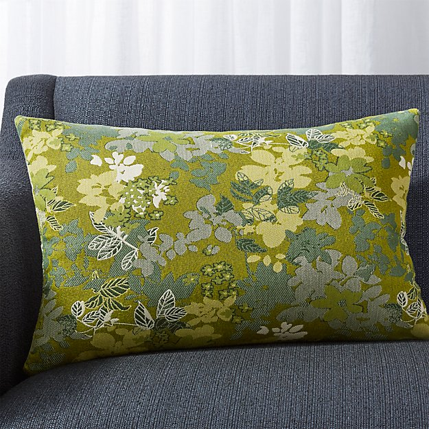 """Carly Jacquard Floral Pillow 22""""x15"""" - Image 1 of 5"""