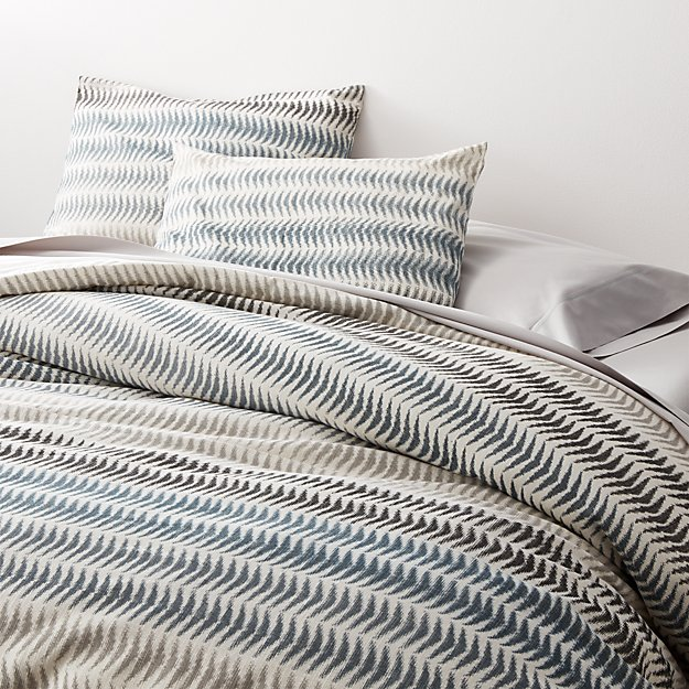 Carmelo Patterned Duvet Covers and Pillow Shams - Image 1 of 8