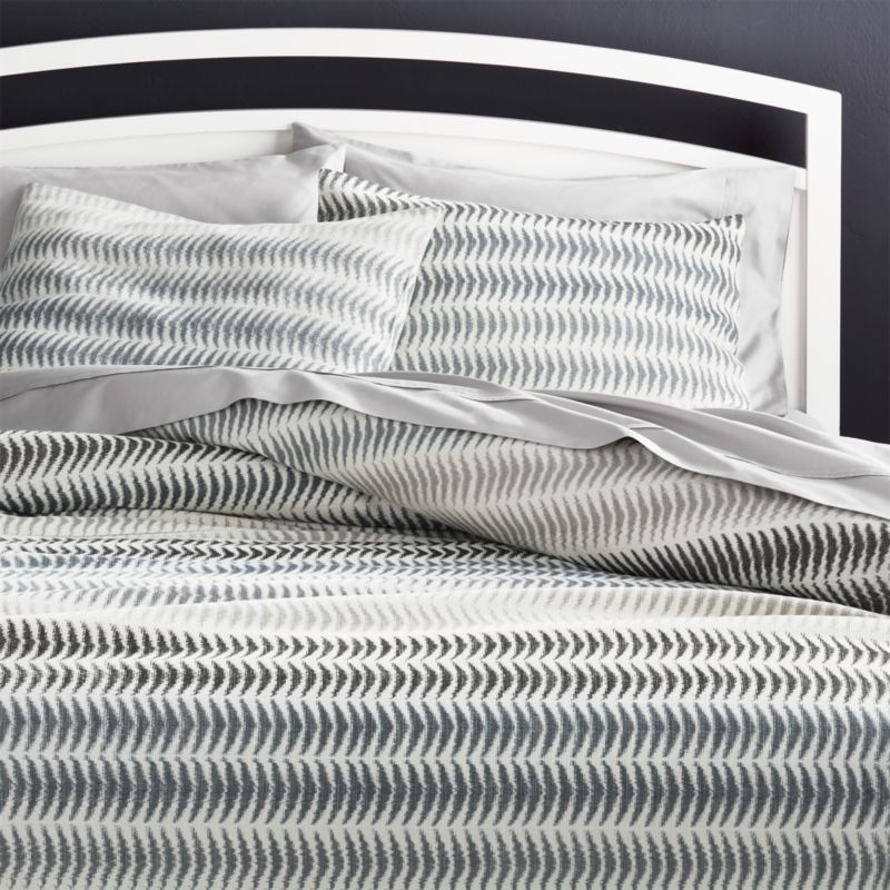 Carmelo Patterned Duvet Covers and Pillow Shams. New Bed and Bath   Crate and Barrel