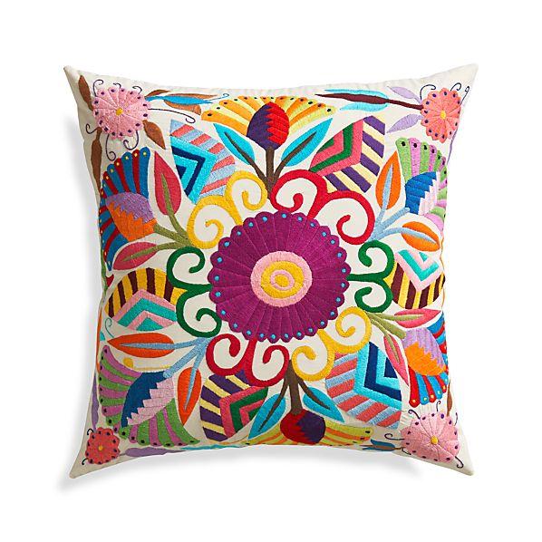 "Carmen 23"" Pillow with Down-Alternative Insert."