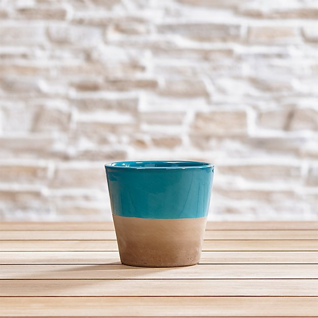 Carnivale Teal Mini Planter