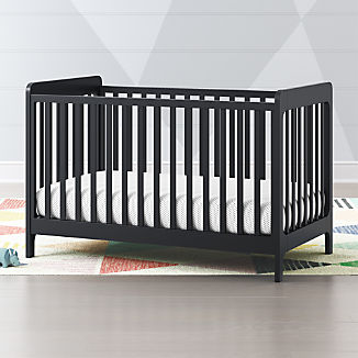 Carousel Navy Blue Low Profile Crib