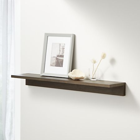 Carren  Floating Charcoal Ledge Shelf Reviews Crate And Barrel