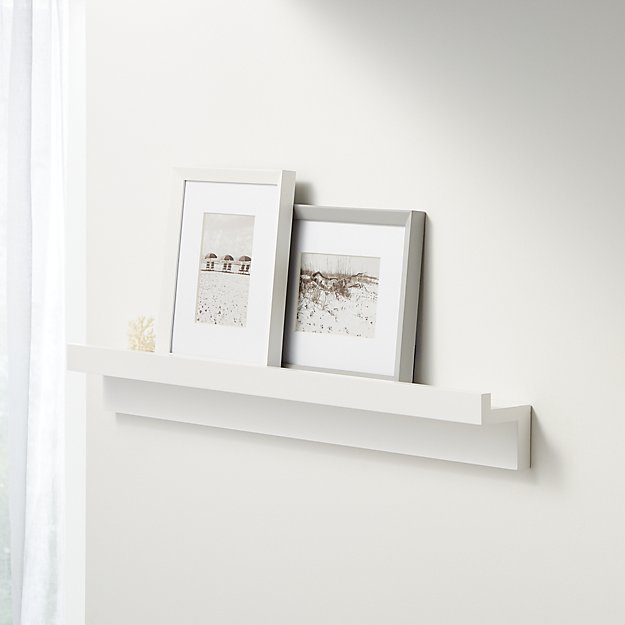 "Carren 36"" Floating White Ledge Shelf with Lip - Image 1 of 2"